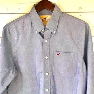 HOLLISTER   Pinstriped Dress Shirt
